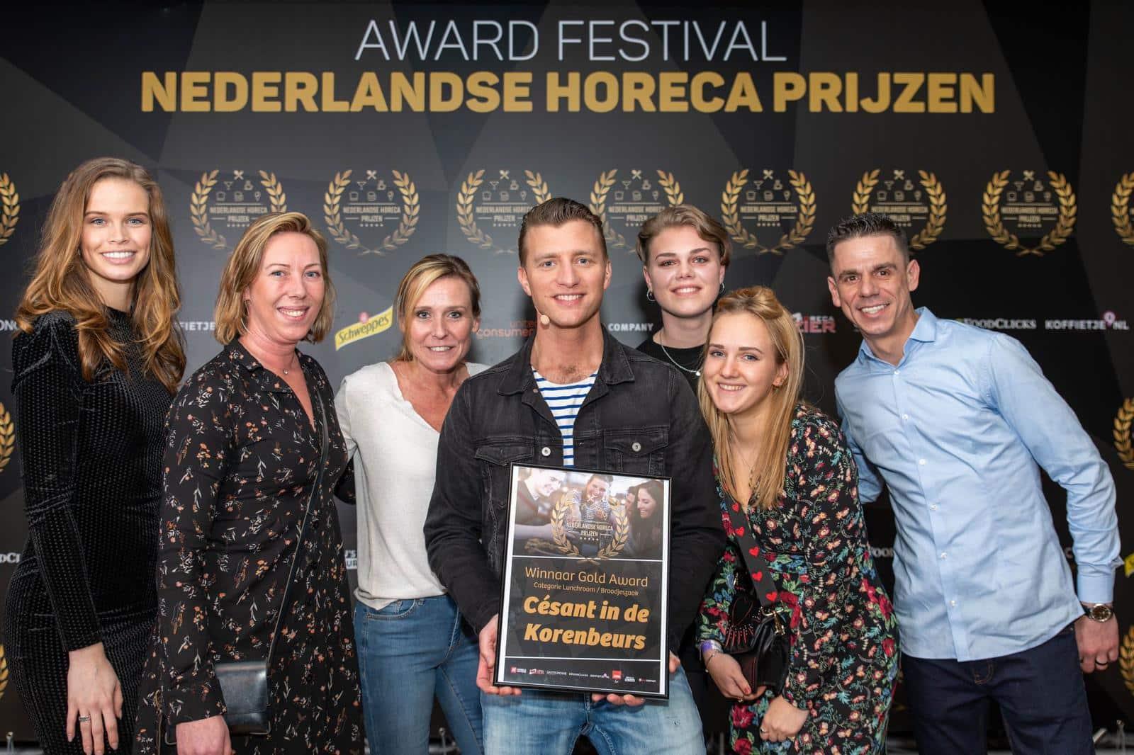 Gold Award Winnaar Césant in de Korenbeurs!